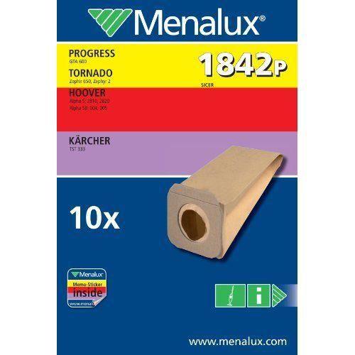 Menalux 1842 P Lot de 10 sacs pour aspirateurs Progress, Hoover et Kärcher (Import Allemagne)…