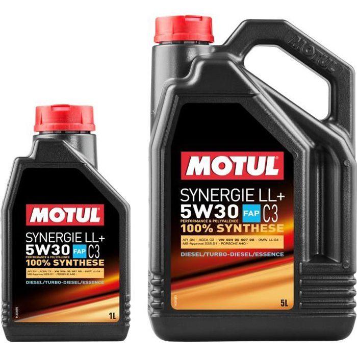 MOTUL Huile moteur SYNERGIE LL+ 5W30 5 + 1 litres