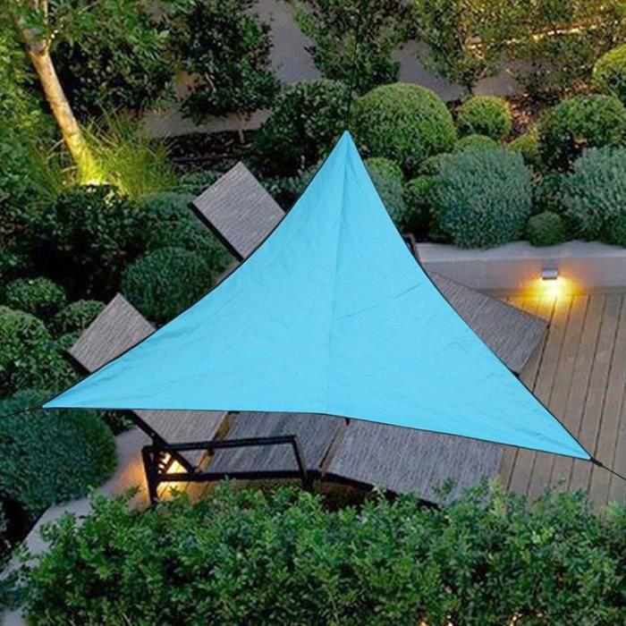 Voile d'ombrage Triangulaire 4 x 4 x 4 Mètres pour Jardin Terrasse
