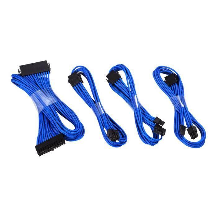 Phanteks Ph Cbcmbo Kit de câble d'extension d'alimentation bleu