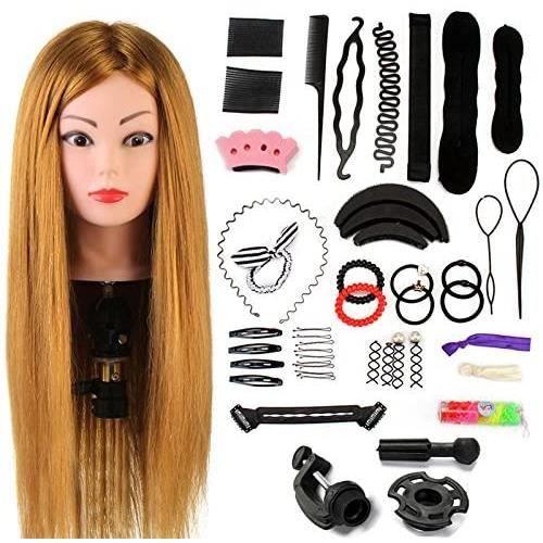 Neverland Beauty 60cm Têtes d'exercice Tête À Coiffer Coiffure Cosmétologie Pratique Mannequin Poupée Cheveux+ Titulaire & Hairdress
