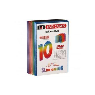 TNB Pack de 10 boîtiers slim couleur DVD