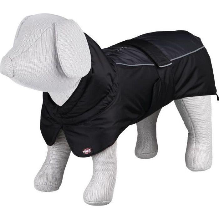 TRIXIE Manteau d'hiver Prime XS: 30 cm noir/gris pour chien