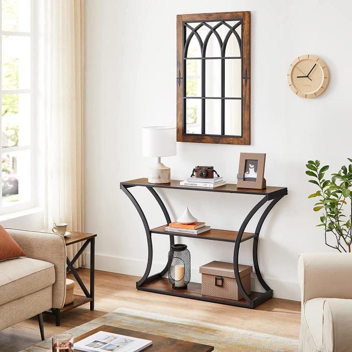 VASAGLE Table console - Table d'entrée - Pieds courbés - Dessus de Table allongé - Style industriel LNT089B01