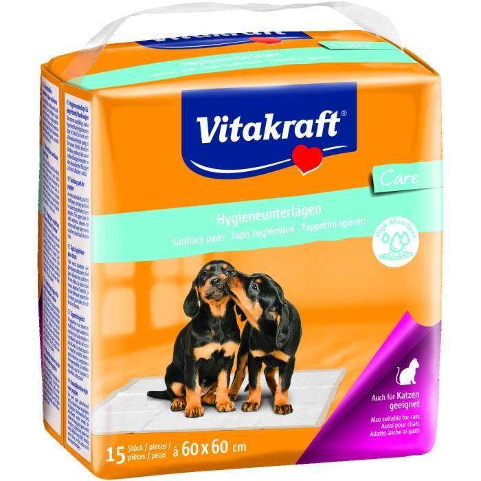 VITAKRAFT Tapis hygiénique - 60 x 60 cm - Pour chien