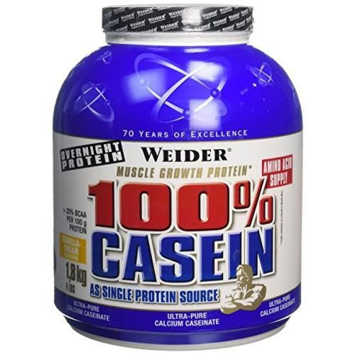 WEIDER Boîte de Day & Night Casein Vanille 1.8kg