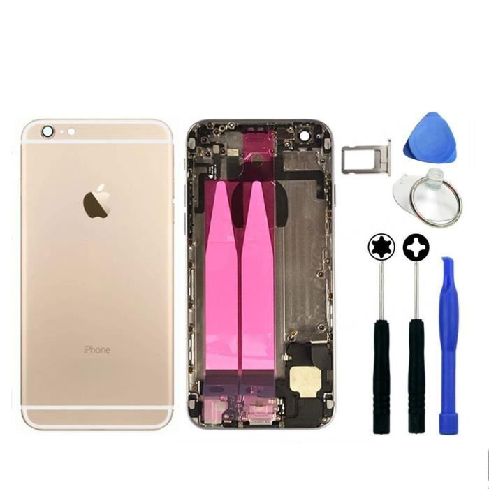 chassis complet coque arriere pour iphone 6 or sco