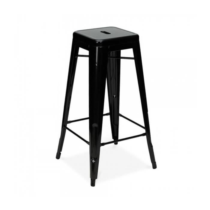 tabouret bistrot noir achat vente tabouret cdiscount. Black Bedroom Furniture Sets. Home Design Ideas