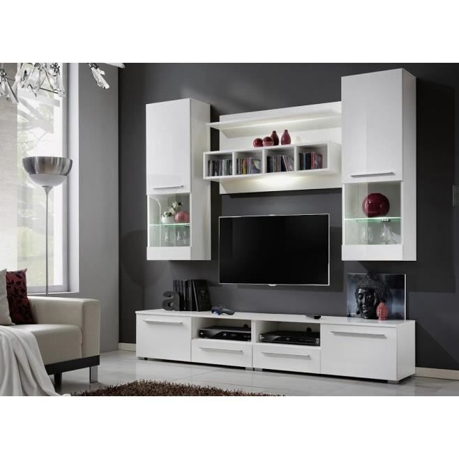 meuble tv mural laque maison design. Black Bedroom Furniture Sets. Home Design Ideas