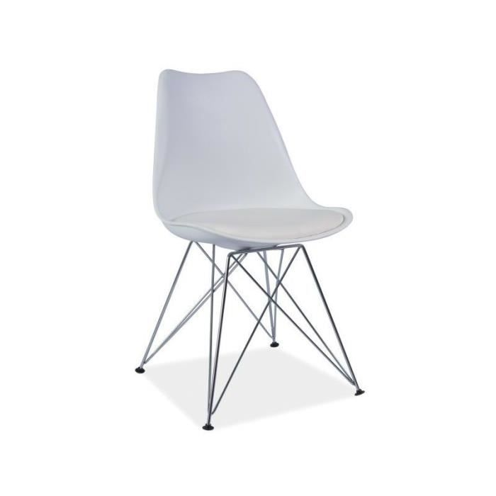 Chaise dsr tim design eames avec pieds m tal achat for Chaise eames pied metal