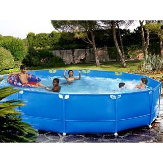 Kit piscine tubulaire indigo ronde x achat for Piscine hors sol 6m diametre