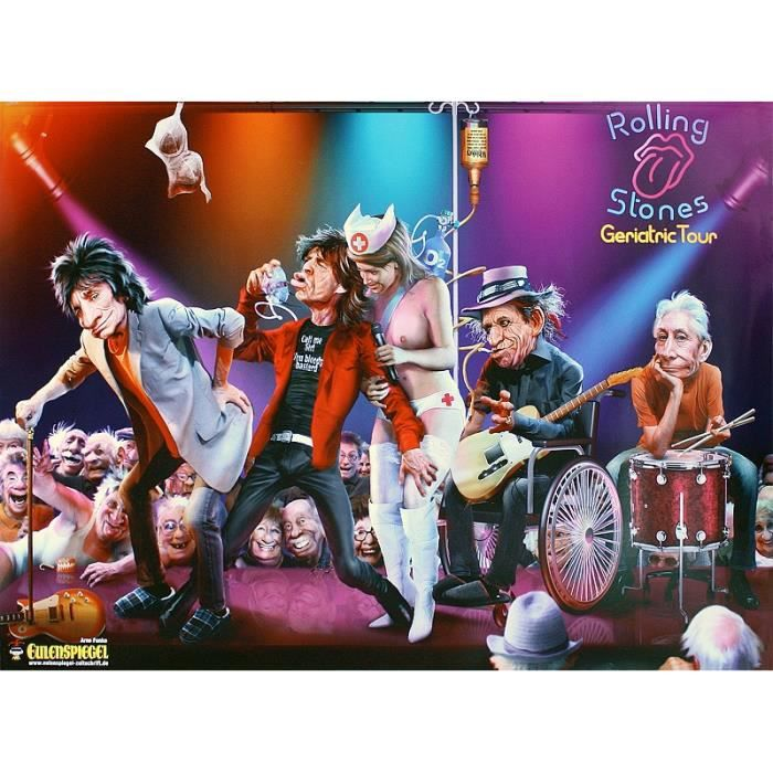 Poster Rolling Stones Geriatric Tour Achat Vente Affiche Poster Cdiscount