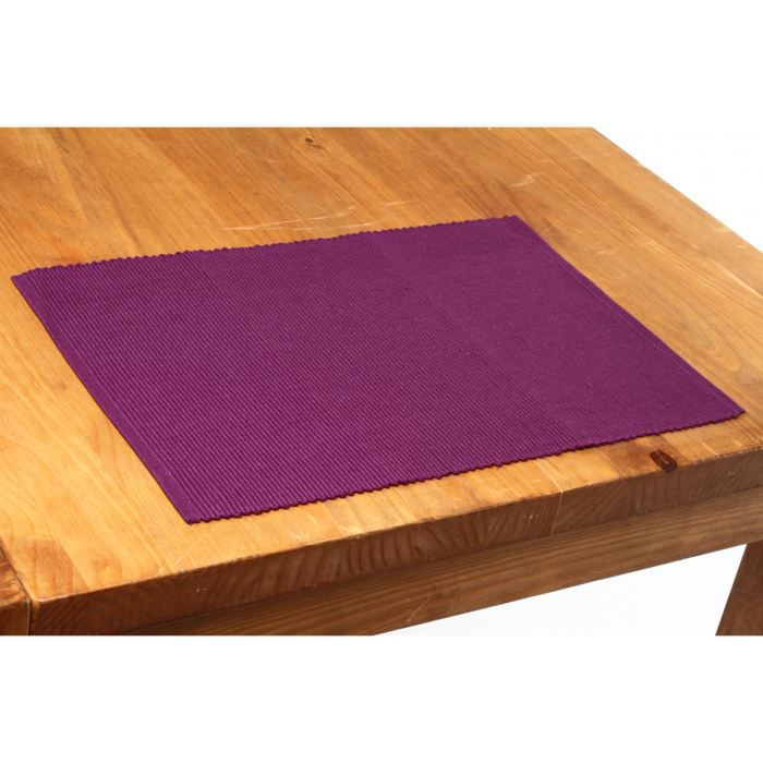 Set de table cot 33x47 lot de 4 prune achat vente set - Set de table definition ...