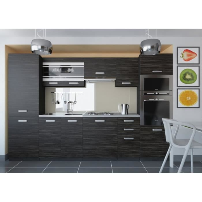 justhome torino v cuisine quip e compl te 300 cm mod le de poign e i achat vente cuisine. Black Bedroom Furniture Sets. Home Design Ideas