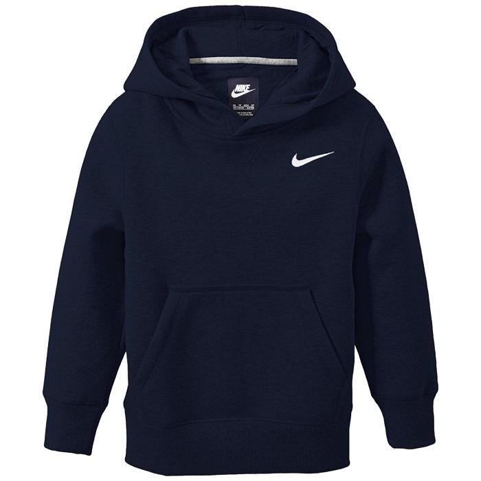 nike jr brushed sweat shirt capuche bleu achat vente sweatshirt soldes d s le 10. Black Bedroom Furniture Sets. Home Design Ideas