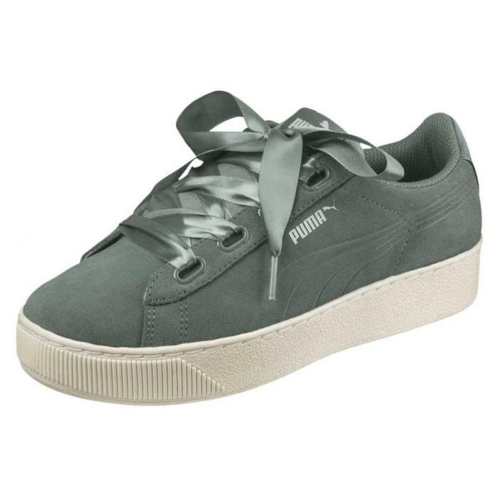 puma vikky platform patent sneakers basses femme