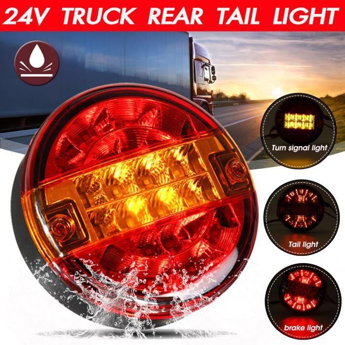 SUV camion Lot de 5 feux de gabarit ronds /à 4 LED 6,3 cm pour remorque