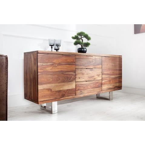 buffet design en bois sheesham 2 portes 3 tirois fire 160. Black Bedroom Furniture Sets. Home Design Ideas