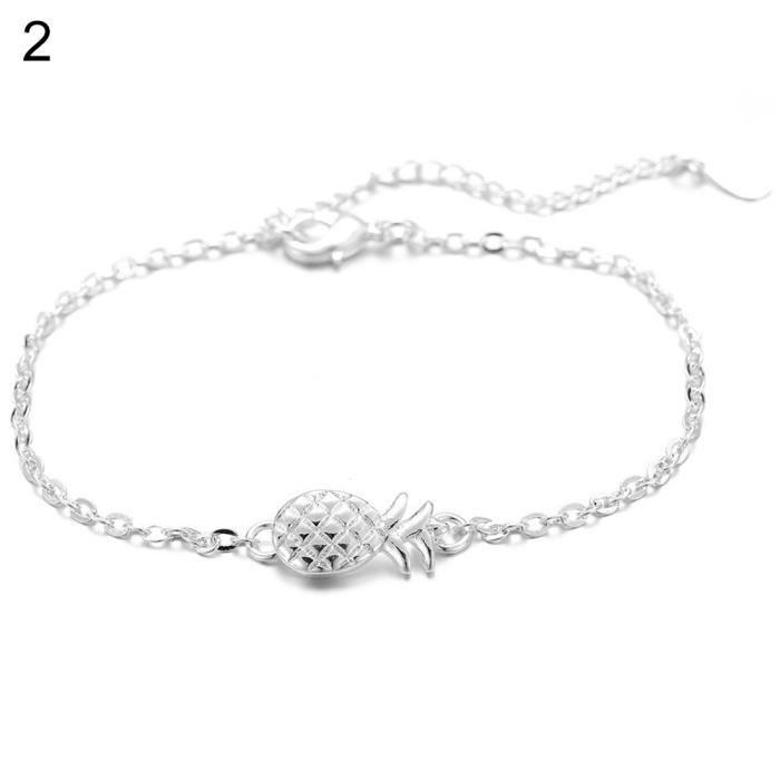 Charmant Bijoux Femmes Mode plaqué argent chaîne Bracelet Elegent Lady