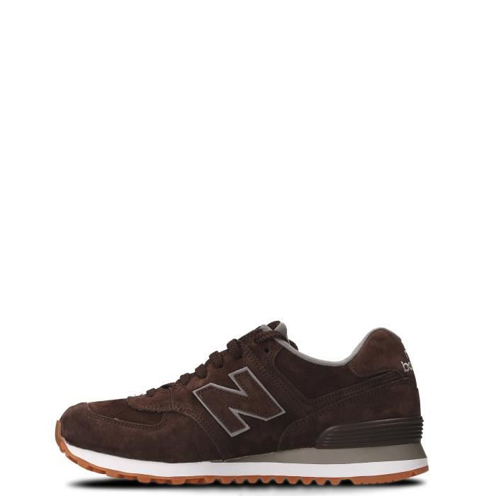 NEW BALANCE HOMME NBML574FSB MARRON SUÈDE BASKETS