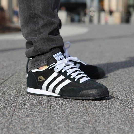 adidas dragon homme blanche