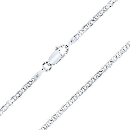 Bracelet Argent 925//1000 Rhodi/é Maille Grain de Caf/é 2.5 mm Planetys