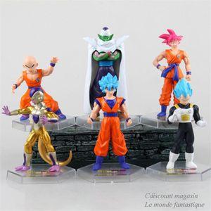 POUPÉE 11cm 6 pièces pvc Dragon Ball Super Saiyan Son Gok