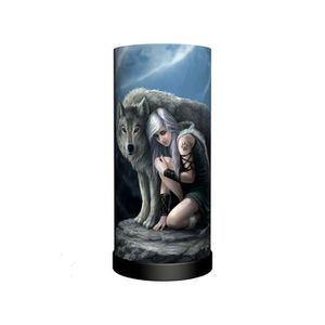 LAMPE A POSER Lampe gothique ANNE STOKES 'protector'