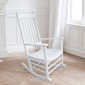Rocking chair siesta bis blanc achat vente fauteuil for Rocking chair blanc chambre bebe