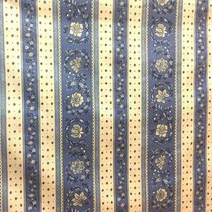 TISSU Tissu  au mètre coton  provençale vence bleu B lin