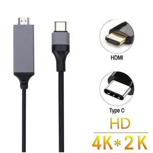 CÂBLE INFORMATIQUE CZ Usb 3.1 Type C Usb-C A 4K Hdmi Hdtv Cable pour