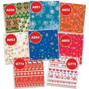 Kit papier créatif Paquets de papier Decopatch (flocons de neige bleu