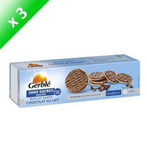 BISCUITS SECS GERBLE Biscuits nappés de chocolat au lait - 125 g