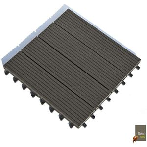 DALLAGE Lot de 11 Dalles clipsables 30 x 30 cm - Terrasse