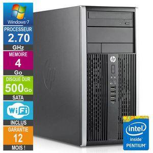 UNITÉ CENTRALE  PC HP Pro 6200 MT Pentium G630 2.70GHz 4Go/500Go W