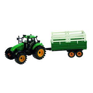 TRACTEUR - CHANTIER Jouet Tracteur et remorque à friction - L. 30 cm -