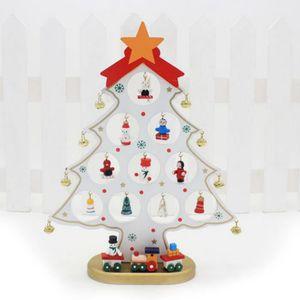 SAPIN - ARBRE DE NOËL SIMPVALE Mini sapin en bois avec diverses décorati