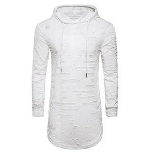 T-SHIRT Tee Shirt Homme Hoodie Destroyed Streetwear T Shir