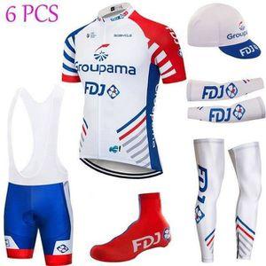 TENUE DE CYCLISME FDJ Groupama Cyclisme Tenue de Maillot Courtes+Cas