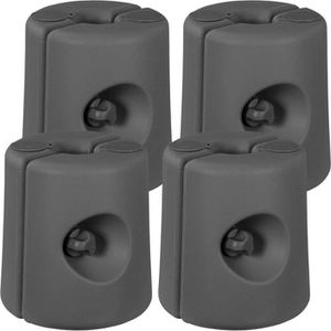 TONNELLE - BARNUM INSTENT® Set de 4 pieds pour tonnelle 20-40mm Gris