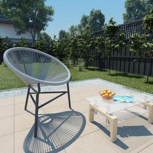 FAUTEUIL JARDIN  Chaise de jardin Forme de lune Résine tressée 69x6