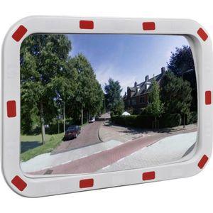 MIROIR DE SÉCURITÉ Miroir convexe rectangle avec réflecteurs 40 x 60