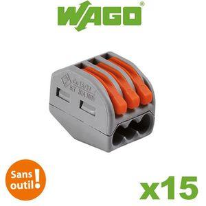 BORNE ELECTRIQUE Bornes automatiques 3 fils S222 - Boite de 15 pièc