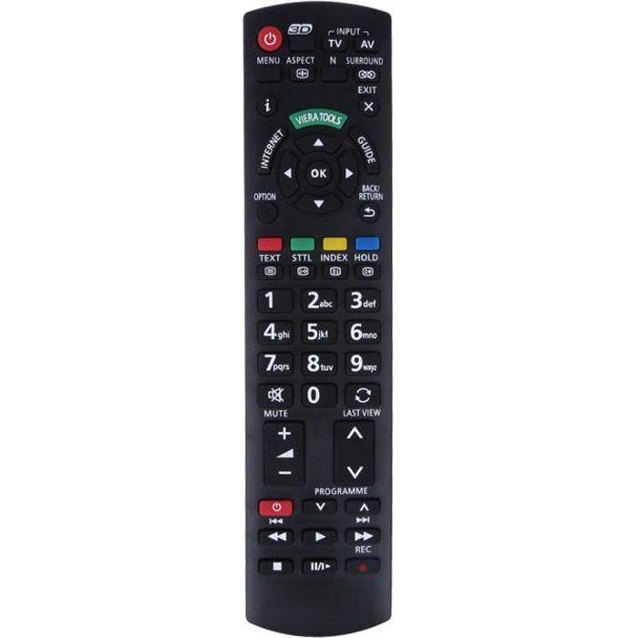 Télécommande TV Noire pour Panasonic TV -SWT