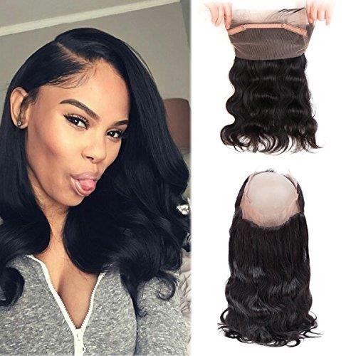 14'' Perruque Lace Frontal Closure wig 360 brésilienne-Hermosa - Cheveux non-remy, Body Wave