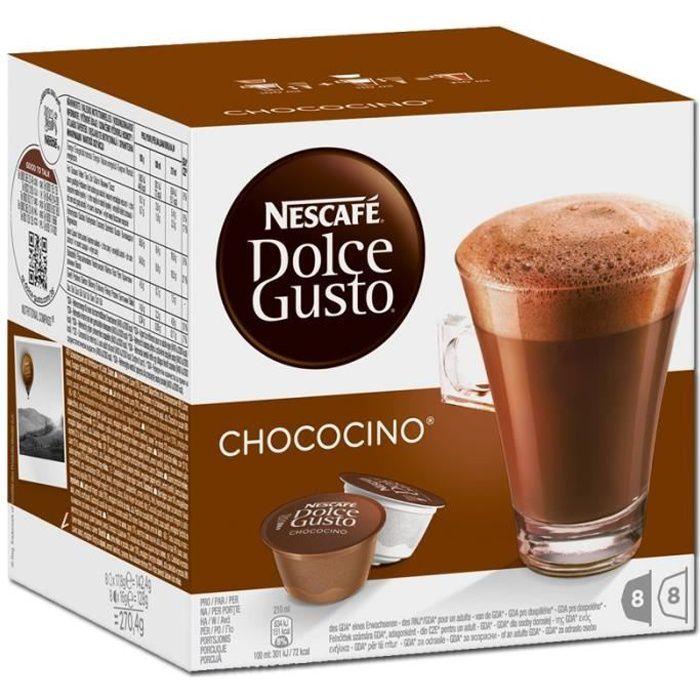 Nestlé Dolce Gusto Chococino, Café, Café au cacao, Boîte de 16 capsules