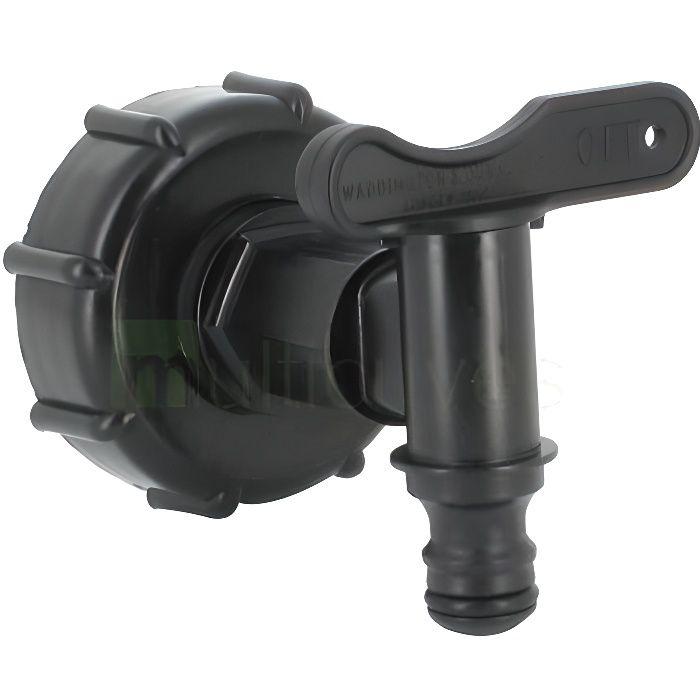 Raccord robinet pour cuve eau 1000 L PEHD - S60...