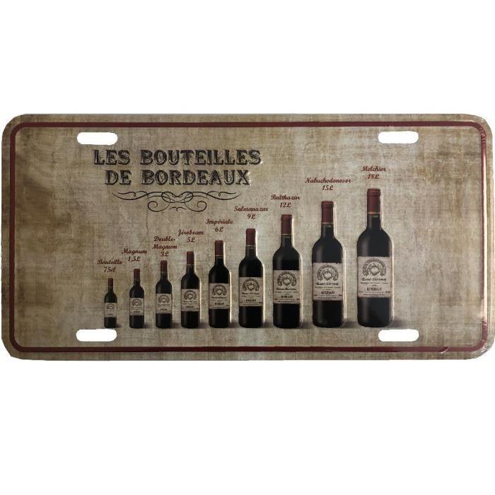 Plaque decorative metallique Les Bordeaux