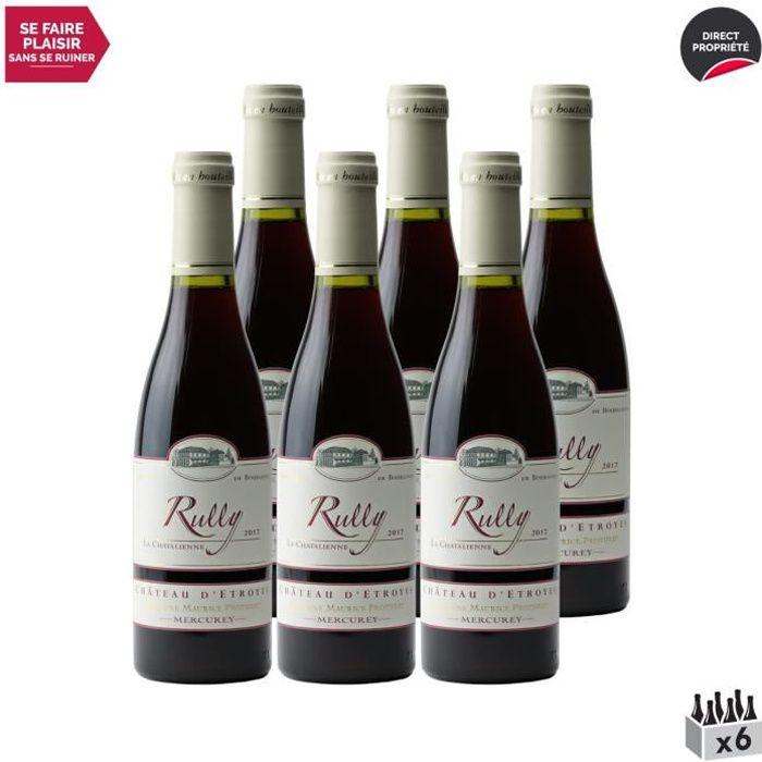 Rully Chatalienne Rouge 2017 - Lot de 6x37.5cl - Château d'Etroyes - Vin AOC Rouge de Bourgogne - Cépage Pinot Noir