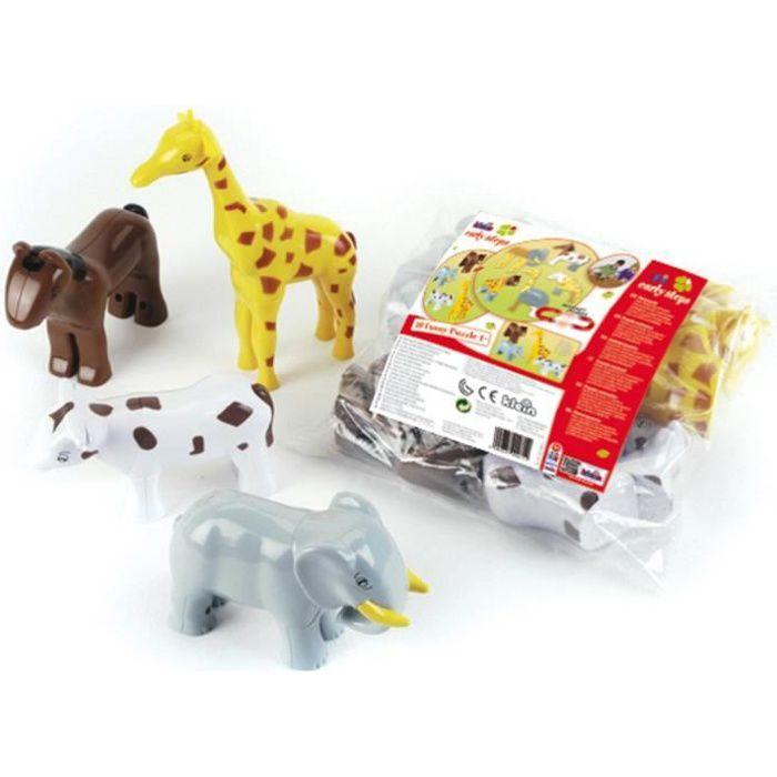 KLEIN Early Steps Funny Puzzle - 4 animaux magnétiques sous sachet